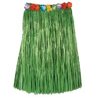 nylon hula skirt green